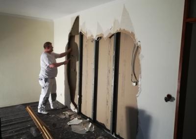 Renovierung Trockenbau Arbeiter