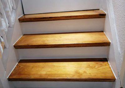 Sanierung Treppenstufen Holz